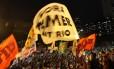 Protesto no Rio reuniu 3 mil pessoas no Rio, segundo a PM