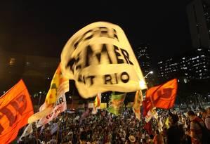 Protesto no Rio reuniu 3 mil pessoas no Rio, segundo a PM Foto: Paulo Nicolella / Agência O Globo