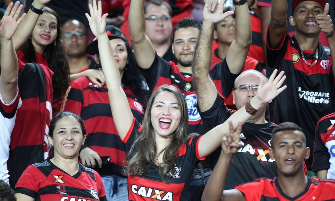 A torcida rubro-negra faz a festa em Cariacica Gilvan de Souza