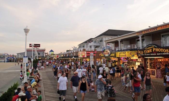 Ocean City Boardwalk, no estado de Maryland, EUA Foto: Notyourbroom/Creative Commons / Reprodução