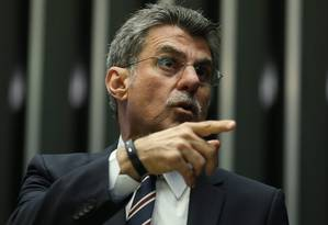 O senador Romero Jucá (PMDB-RR) Foto: Andre Coelho / Agência O Globo / 24-5-2016