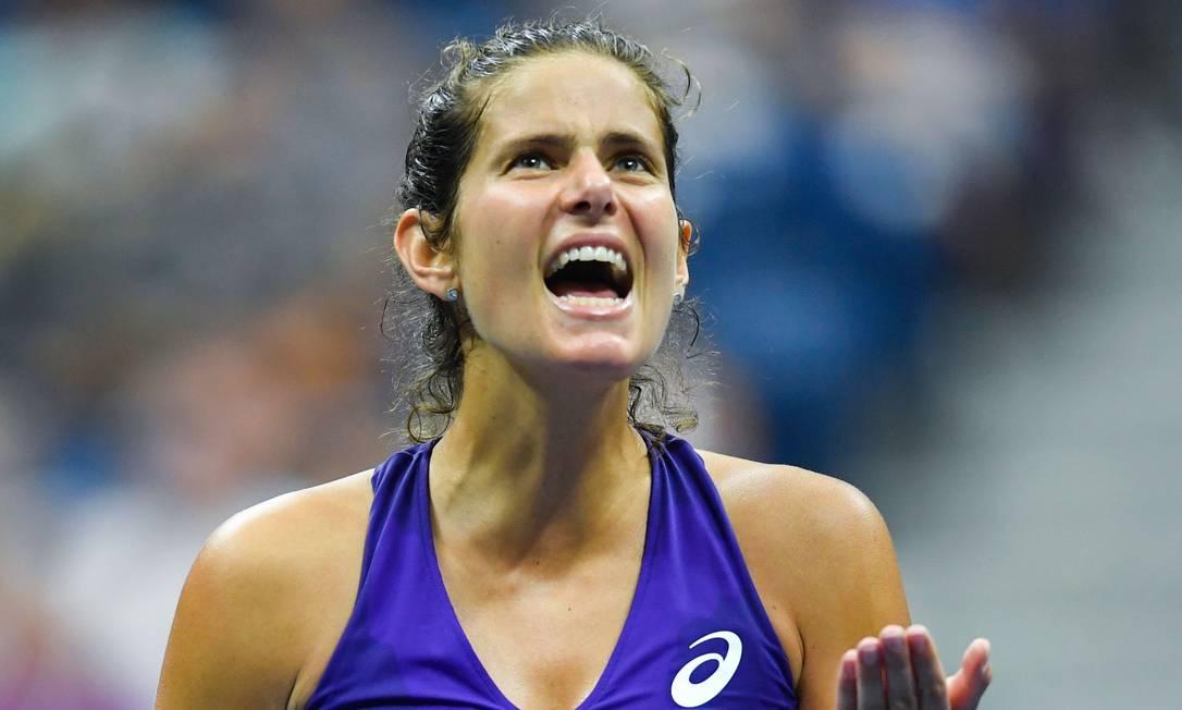 A alemã Goerges gesticula na derrota para Venus EDUARDO MUNOZ ALVAREZ / AFP