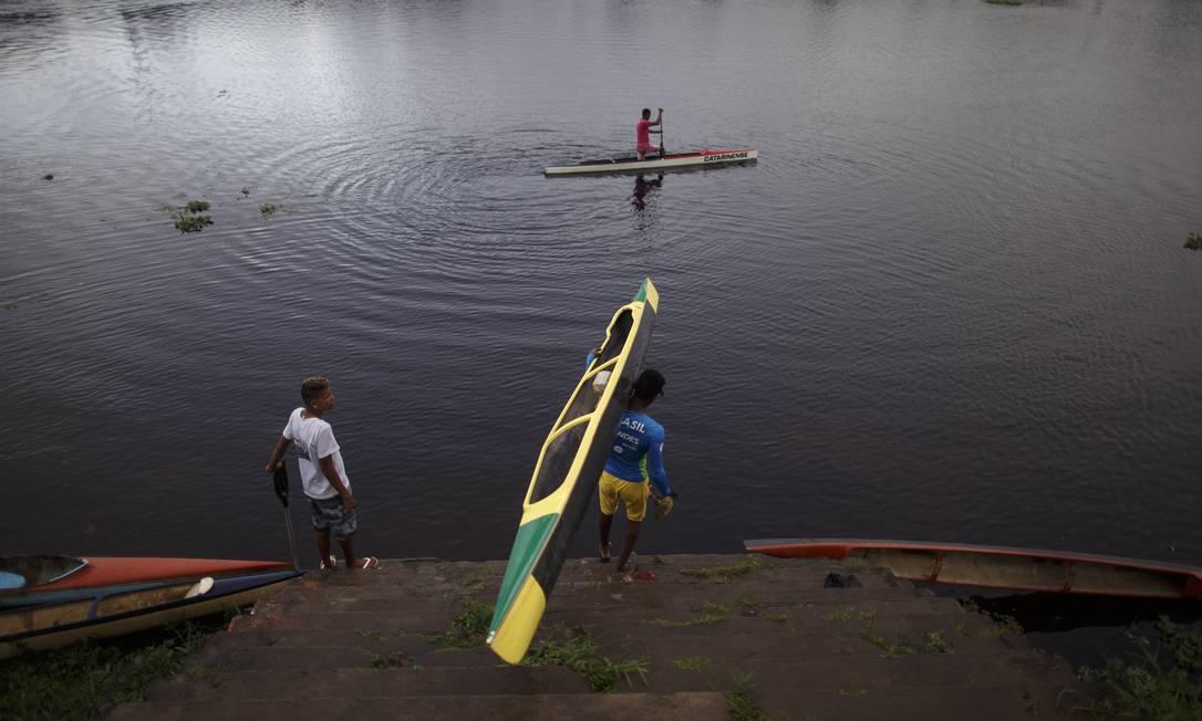 Os canoístas locais sonham com melhor estrutura Daniel Marenco / Agência O Globo