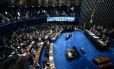 O plenário do Senado durante o impeachment de Dilma Rousseff