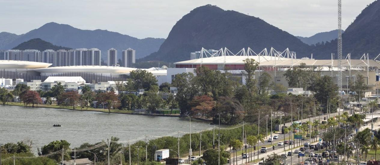 Parte do Parque Olímpico vista do Hotel Hilton, na Barra da Tijuca Foto: Leo Martins - 18/07/2016 / Agência O Globo