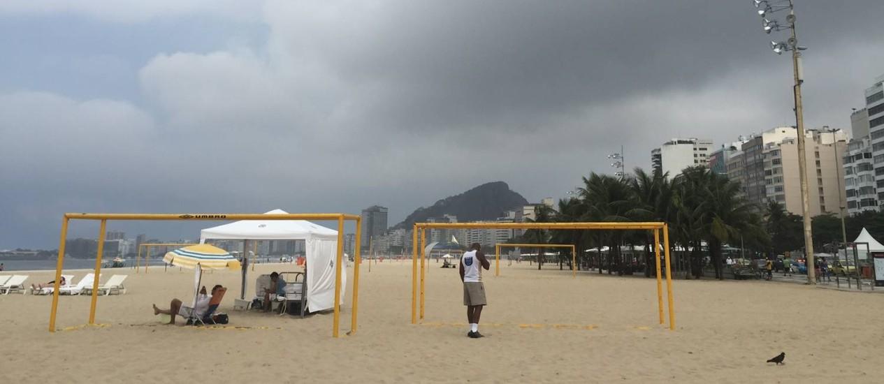Tempo nublado no Rio Foto: Agência O Globo