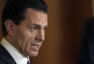 Enrique Peña Nieto fala durante entrevista coletiva Foto: Susan Walsh / AP