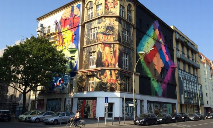 Prédio onde será aberto o museu de street art de Berlim Foto: Divulgação