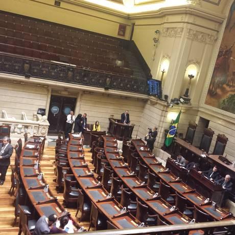 Câmara de Vereadores no dia 30 de agosto Foto: Juliana Castro