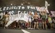 Manifestação contra o presidente Michel Temer, que começou em Copacabana, caminhou até o Canecão, em Botafogo, na Zona Sul do Rio