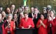 A ex-presidente Dilma Rousseff durante pronunciamento após a aprovação do seu impeachment