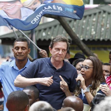 O candidato do PRB à Prefeitura do Rio, Marcelo Crivella Foto: Domingos Peixoto / Agência O Globo