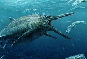 Ilustração mostra como seria o Monstro do Lago Storr Foto: TODD MARSHALL / Divulgação