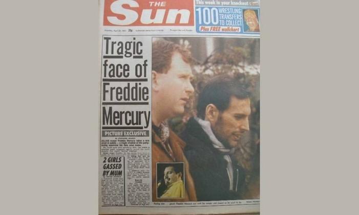 Freddie Mercury no 'The Sun' Foto: Reprodução