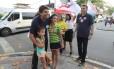 O candidato do PMDB a prefeito do Rio, Pedro Paulo, durante evento de campanha