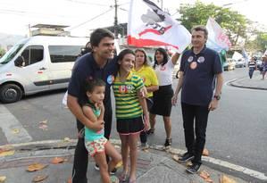 O candidato do PMDB a prefeito do Rio, Pedro Paulo, durante evento de campanha Foto: Paulo Nicolella / Agência O Globo / Arquivo / 03/09/2016