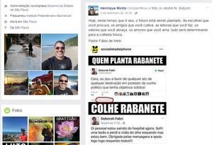 Reprodução do Facebook do Coronel Foto: Arquivo Pessoal
