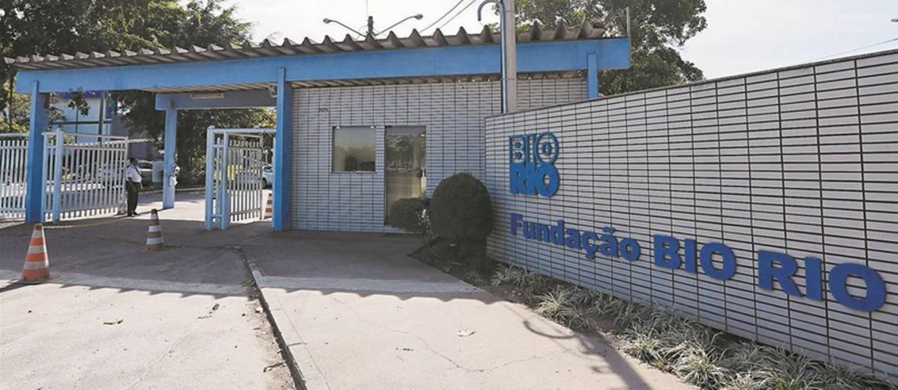 Entrada da Fundação Bio-Rio no terreno alugado no campus da UFRJ na Ilha do Fundão: o Ministério Público estadual constatou desvios de finalidade, como o uso da instituição para a preparação de concursos públicos Foto: Pablo Jacob