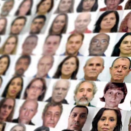 Rostos dos funcionários da Vigilância Sanitária Foto: Reprodução