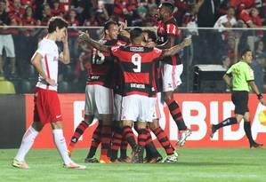 Flamengo estreou em Cariacica com vitória sobre o Inter no Brasileirão Foto: Gilvan de Souza / Flamengo