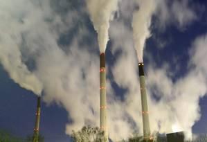 Estimativa aponta que país vai emitir 1,047 gigatonelada de gases-estufa em 2030, abaixo do compromisso firmado em Paris Foto: INA FASSBENDER / REUTERS