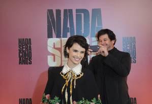 Murilo Benicio e Débora Falabella no lançamento de 'Nada será como antes' Foto: TV Globo
