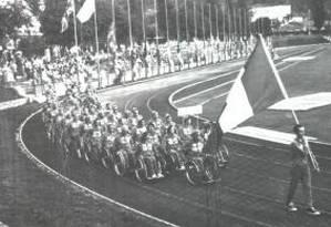 Roma. Em 1960, a estreia da Paralimpíada: apenas 5 mil pessoas assistiram ao desfile dos 400 atletas de 23 delegações Foto: 18/09/1960 / Comitê Paralímpico Internacional