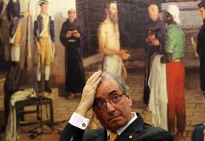 O ex-presidente da Câmara Eduardo Cunha quando ainda tinha o mandato de deputado Foto: Givaldo Barbosa / O Globo/Arquivo