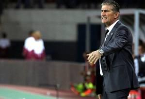 Bauza lamentou os erros cometidos pelos argentinos Foto: MARCO BELLO / REUTERS