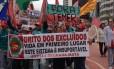 Grito dos Excluídos se manifesta contra o sistema capitalista e o governo de Michel Temer
