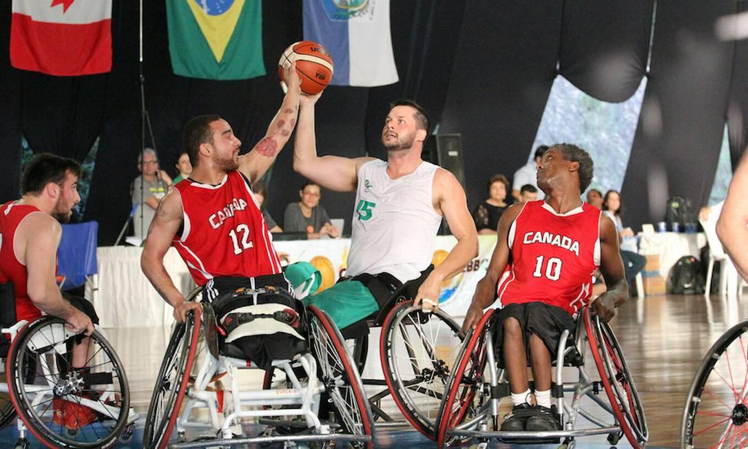 No masculino, Brasil vem de vitórias em amistosos contra o Canadá, atual campeão paralímpico Foto: Gustavo Carvalho/CBBC