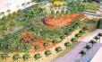 Projeto do parque público que a prefeitura pretende abrir em dezembro