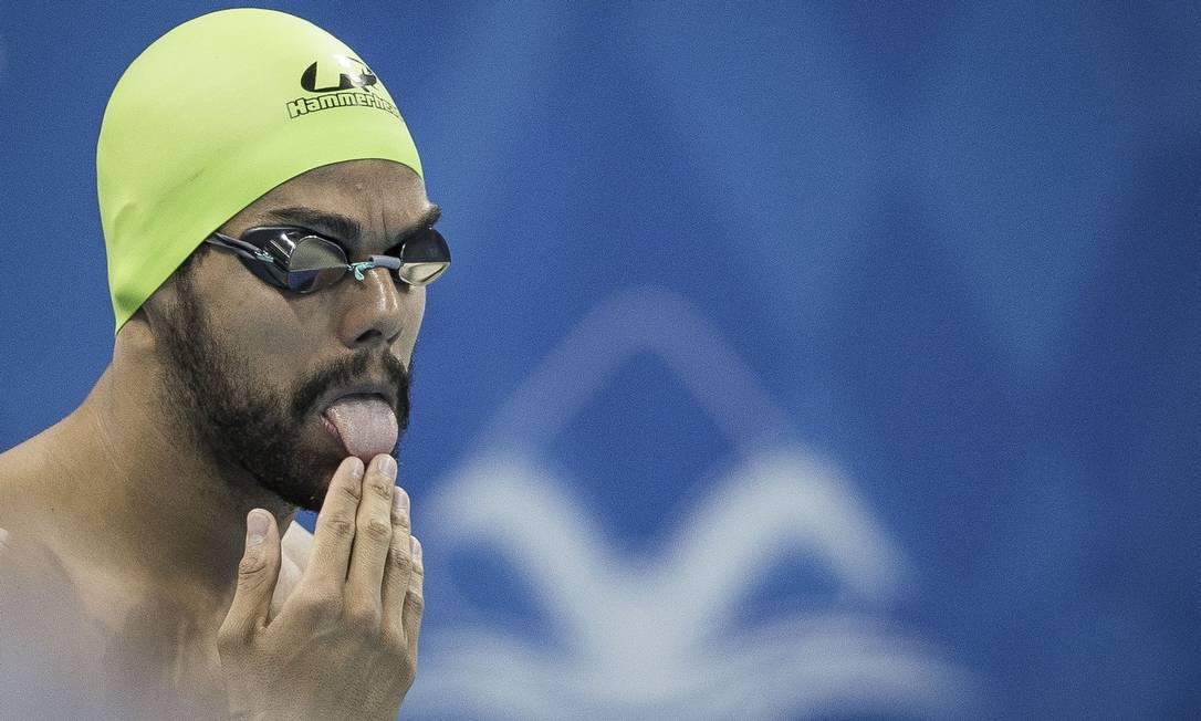 André Brasil, que já conquistou dez medalhas paralímpicas, sendo sete de ouro, é um dos destaques da equipe brasileira, que pode fazer história no Parque Aquático Foto: Marcio Rodrigues/CPB/24-8-2016