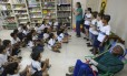 Alunos na Escola Friedenreich no Maracanã
