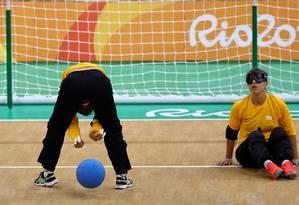 A seleção feminina de goalball estreou com vitória nos Jogos Paralímpicos Foto: Pablo Jacob/ O Globo