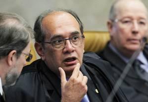 Ministro Gilmar Mendes, presidente do Tribunal Superior Eleitoral (TSE) Foto: Jorge William (20/04/2016) / Agência O Globo