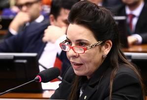 Deputada Raquel Muniz em audiência pública na Câmara Foto: Gilmar Felix/30-8-2016 / Divulgação - Agência Câmara