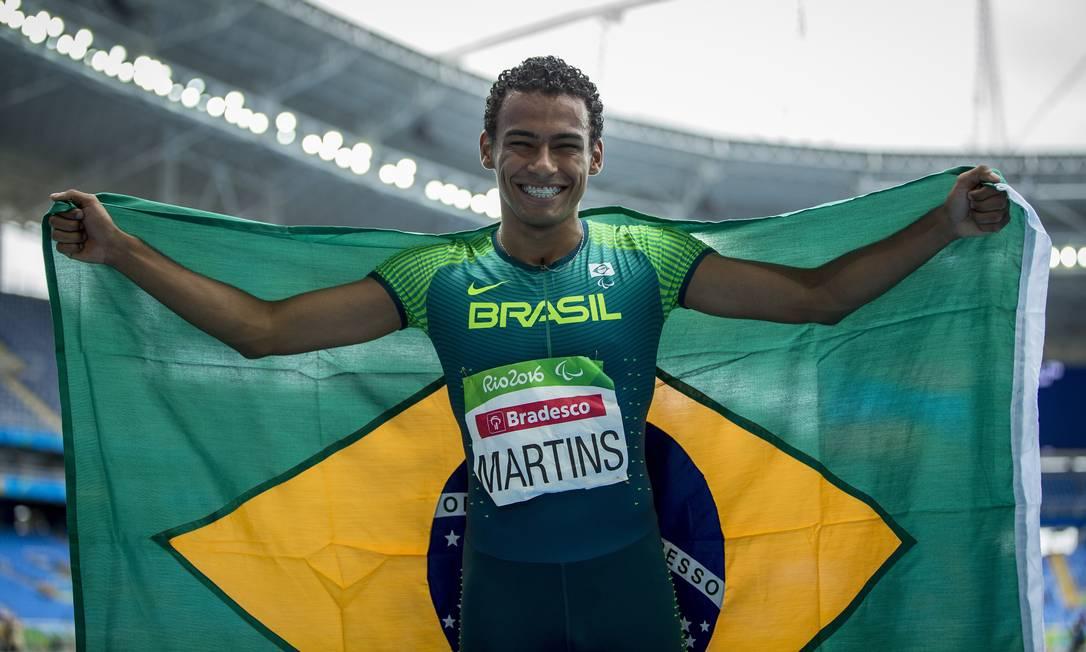 Final masculina 400m, classe T20. Brasileiro Daniel Martins ganha medalha do ouro e consegue novo recorde mundial da prova Hermes de Paula / Agência O Globo