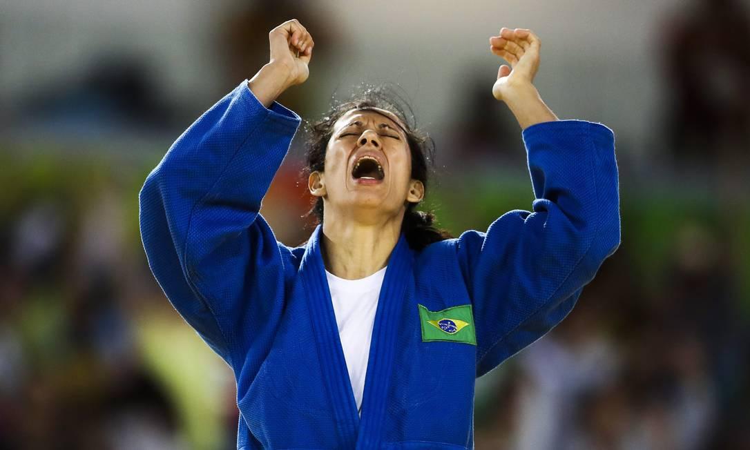 Lucia Araujo vence luta e vai para final do judô na categoria até 57kg Guilherme Leporace / Agência O Globo