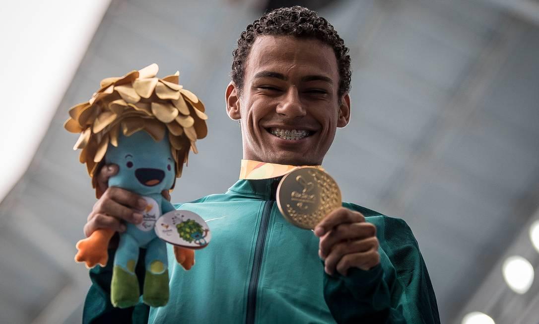 Final masculina 400m, classe T20. Brasileiro Daniel Martins ganha medalha do ouro e consegue novo recorde mundial da prova Daniel Zappe / MPIX/CPB