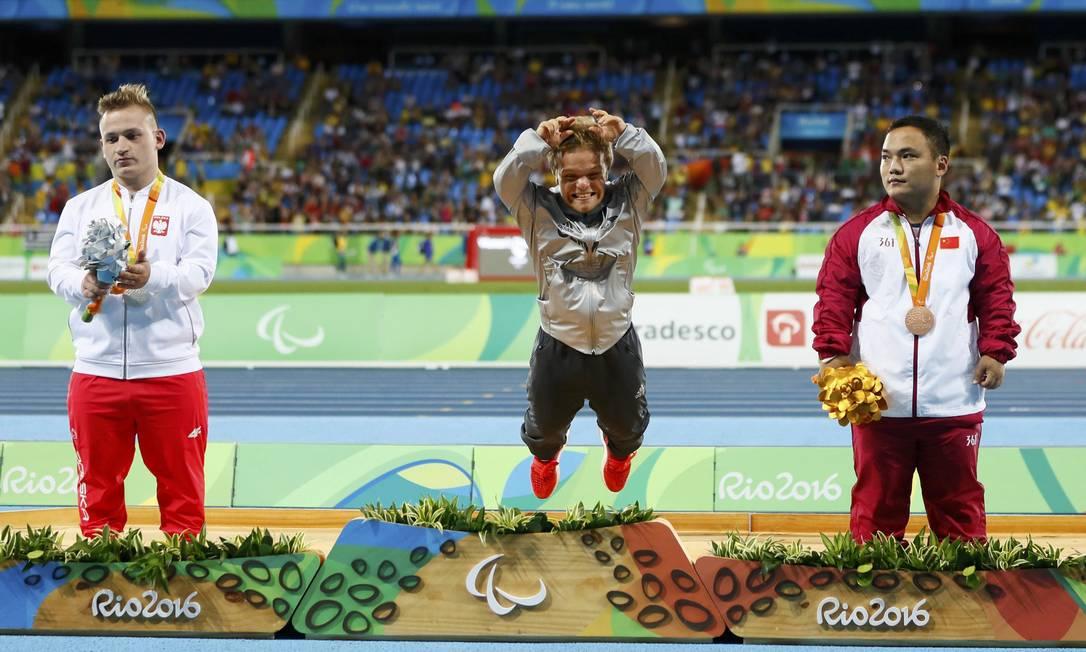 Niko Kappel da Alemanha comemora a conquista da medalha de ouro JASON CAIRNDUFF / REUTERS
