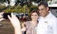 O candidato do PMDB, Sebastião Melo, durante atividade de campanha