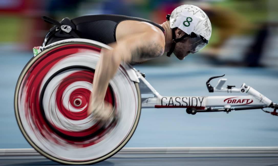 1500 metros em cadeira de rodas Hermes de Paula / Agência O Globo