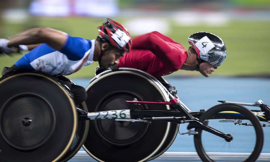 Suiço Marcel Hug vence a prova de 1500 metros Hermes de Paula / Agência O Globo