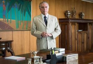 O presidente de República, Michel Temer Foto: André Coelho / Agência O Globo 09/09/2016