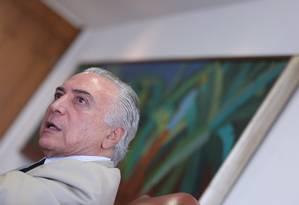 'Me digam qual é o golpe? Eu só quero governar', diz Temer Foto: ANDRE COELHO / Agência O Globo