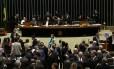 BSB - Brasília - Brasil - 01/12/2015 - PA - Sessão do Congresso Nacional.Na foto: O Presidente do Senado, Renan Calheiros (PMDB-AL) presidindo a seesão disse queinformou que todos os vetos terão votação no painel eletrônico porque houve pedido de destaques. no Plenário da Câmara dos Deputados.Foto: Aílton de Freitas/ Agência Oglobo