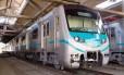 Um dos trens coreanos