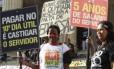 Protesto dos Servidores Publicos na Alerj no Centro RJ