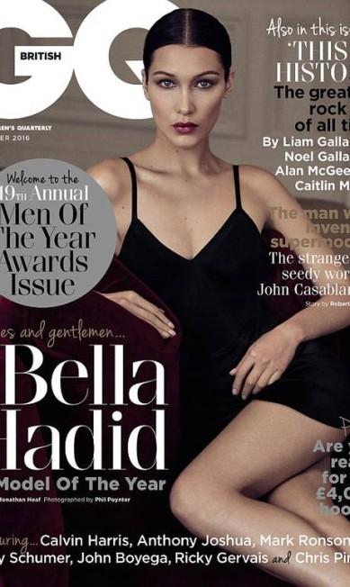 Bella tem 19 anos e aparece com um vestidinho preto bem sexy na capa da revista Divulgação